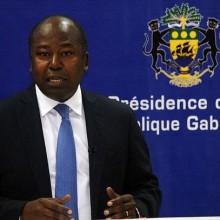 Alain Claude Blilé By Nze lors de la conférence de presse de Nkok