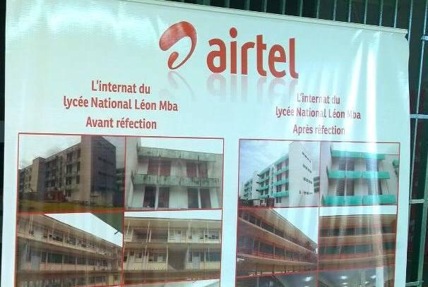 les travaux effectués par Airtel au Lycée Léon Mba