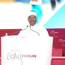 Ali Bongo Ondimba au Doha Gols