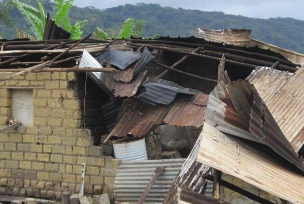 Une des maisons détruites à Nyali