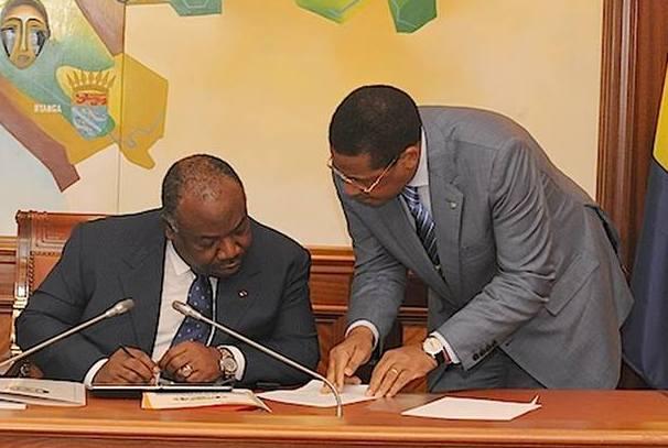 Le Président de la République Ali Bongo Ondimba et le Premier ministre Daniel OnaOndo