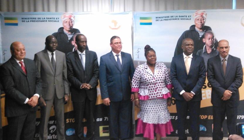 lancement de la campagne contre Ebola (photo de famille)