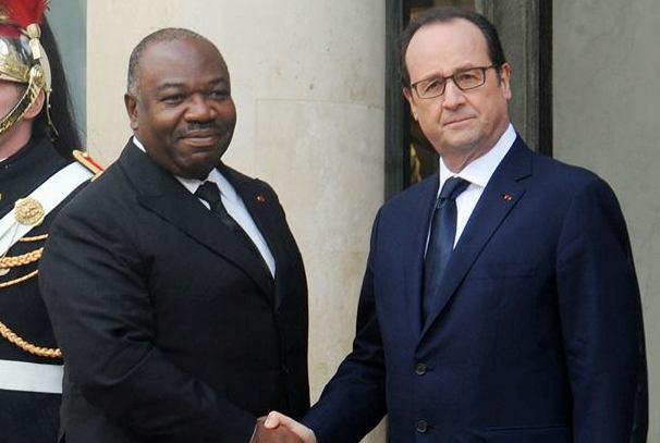 Ali Bongo et François Hollande avant la marche du 11 janvier 2015
