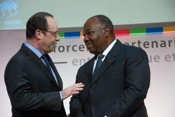 Ali Bongo Ondimba et François Hollande au Forum