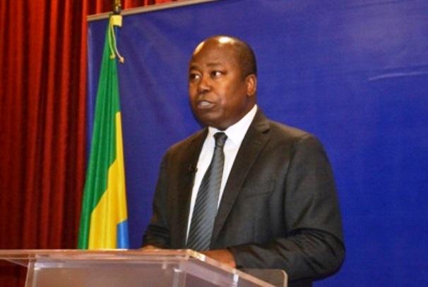 Alain Claude Bilie By Nze à la conférence de presse du 18 mars