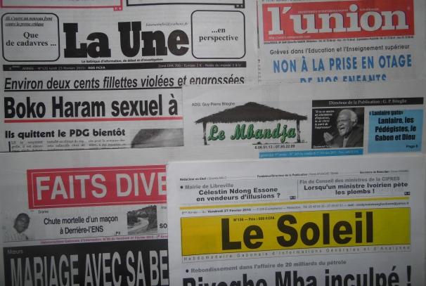 Les journaux gabonais