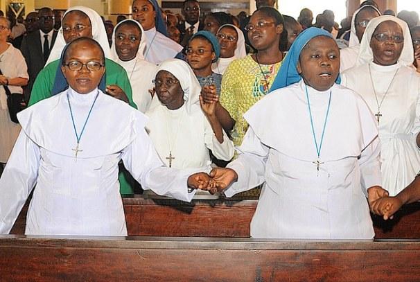 Les réligieuses à Sainte-Marie