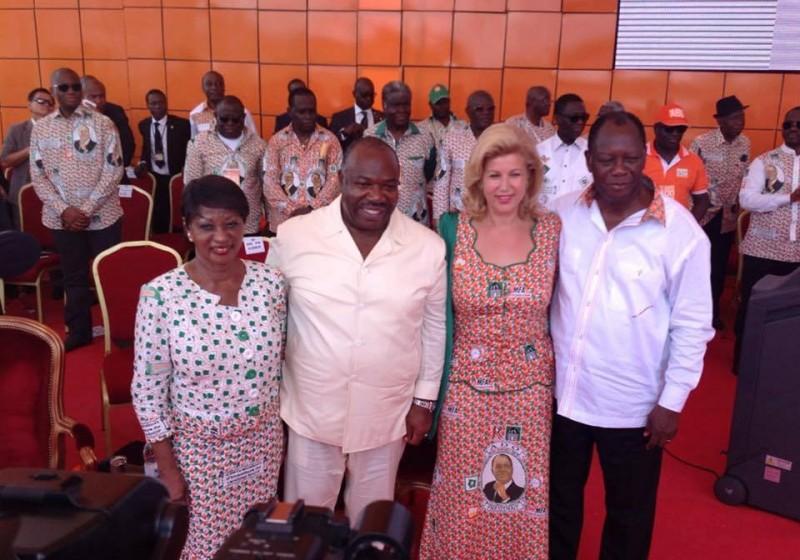 Ali Bongo Ondimba à l'investiture du Candidat Ouattara