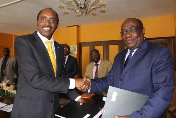 Luc Oyoubi et Dan Rugabira (photo ministère de l'agriculture)