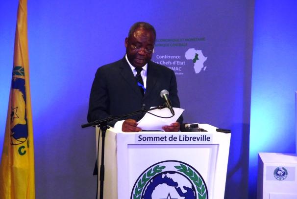 Pierre Moussa à l'ouverture du sommet de la CEMAC