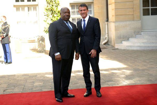 Ali Bongo Ondimba et Manuel Valls à Matignon
