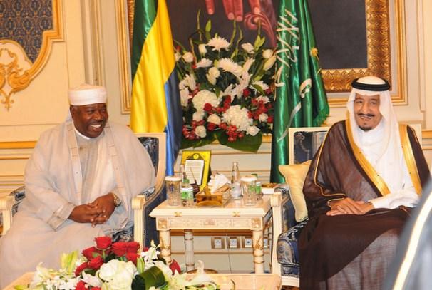 Le Président Ali Bongo Ondimba et le Roi Salman Ben Abdel Aziz Al Saoud à Djedda