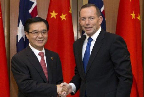 Le Premier ministre australien Tony Abbott et le président chinois Xi Jinping