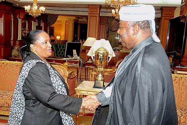 Le Président Ali Bongo Ondimba et Marie Evelyne Petrus Barry