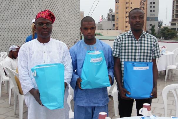 Les 3 gagnants du jeu quiz ramadan