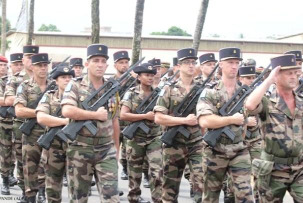 Les militaires français au Gabon
