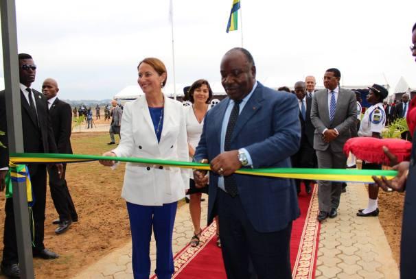 Ali Bongo Ondimba et Ségolène Royal à l'inauguration de l'AGEOS