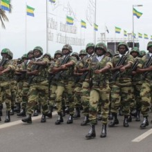 Défilé militaire à Libreville (le 17 août 2015)
