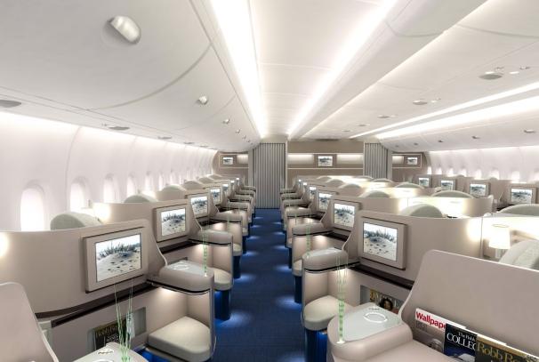 L'intérieur d'un avion de luxe