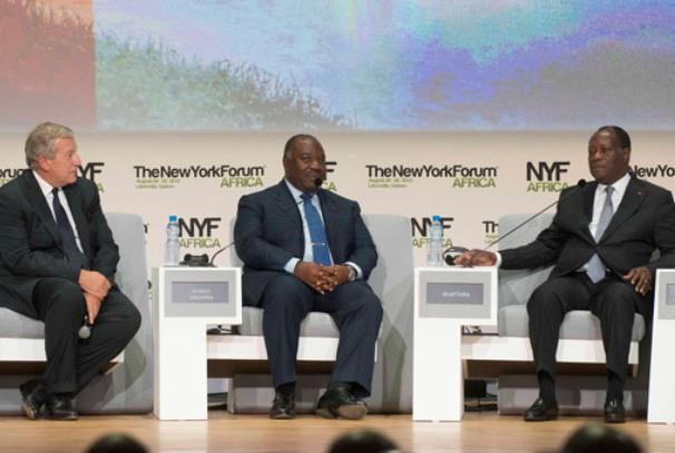 Richard Atthias, Ali Bongo et Alassane Ouattara