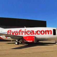 Un avion de Flyafrica