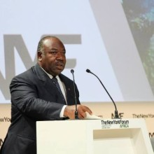 Ali Bongo Ondimba à la clôture du NYFA