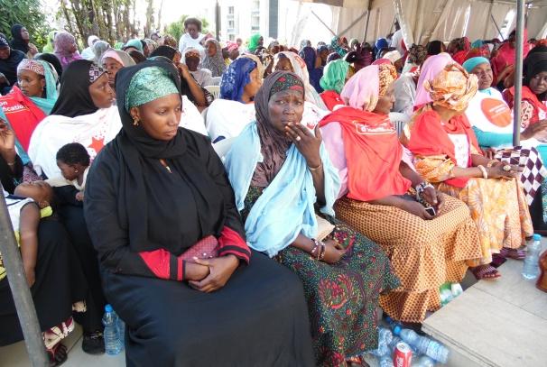 Quelques femmes bénéficiaires du don d'Airtel Gabon