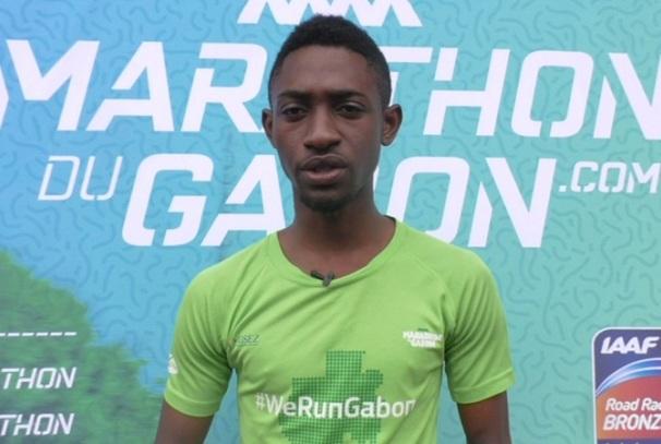Warris Fatombi, porte-parole du Marathon du Gabon