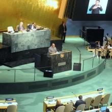 Ali Bongo Ondimba à la tribune de l'ONU