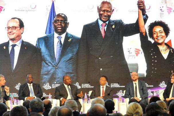 Ali Bongo Ondimba au forum économique de la Francophonie