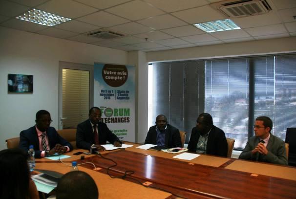 Conférence de presse d'annonce d'un forum sur le programme Graine