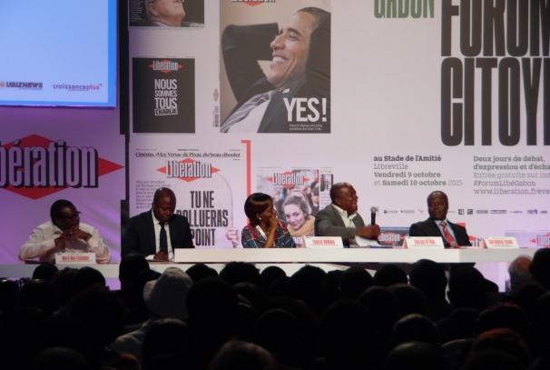 Forum citoyen au Gabon, débat sur la démocratie