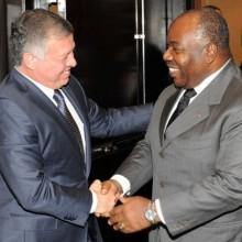 Le Président Ali Bongo Ondimba et le Roi Abdallah