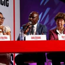 Maximilienne NGo Mbe, Janis Otsiemi et Martine Ostrovsky ont débattu avec Jean Bosco Talla, Jacques Sima et Dina Koussou