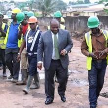 Ali Bongo Ondimba au chantier de Sibang