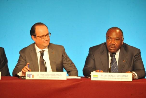 Ali Bongo Ondimba et François Hollande à Paris