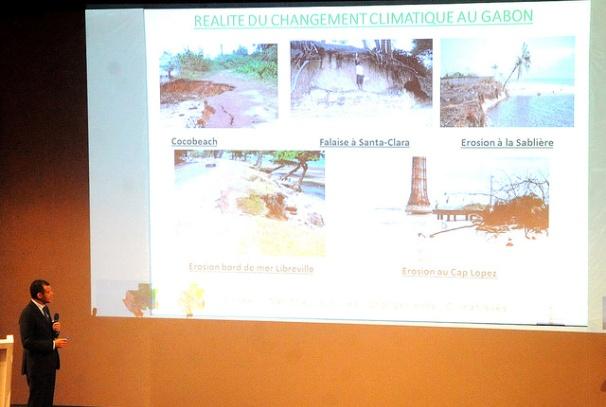 Etienne Massard présente la réalité du changement climatique au Gabon