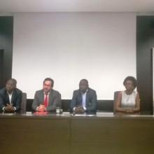 Heiko Schlittke, Directeur Général d'Airtel Gabon, 2ème à gauche
