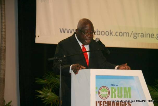 Mathieu Mboumba Nziengui au forum GRAINE