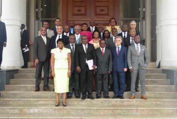 Le bureau de la CJCA à Libreville