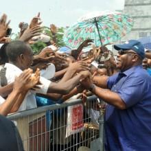 Ali Bongo Ondimba dans le Haut-Ogooué