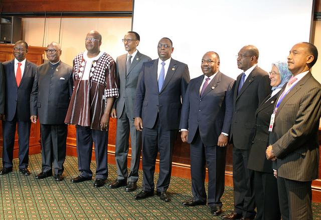 Ali Bongo Ondimba et les autres chefs d'Etat à Addis-Abeba
