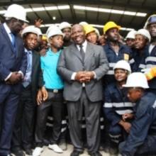 Inauguration des Aciéries du Gabon par Ali Bongo Ondimba