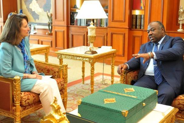 Ali Bongo Ondimba et Ségolène Royal