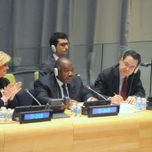 Ali Bongo Ondimba a signé l'Accord de Paris sur les changements climatiques