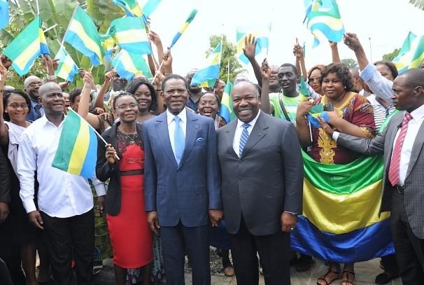 Ali Bongo Ondimba et Teodoro Obiang Nguema Mbasogo à Malabo