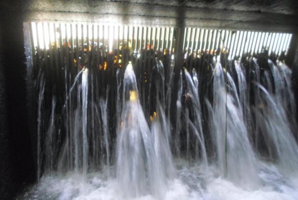 Les dégats occasionnés par la crue à l'usine de Ntoum