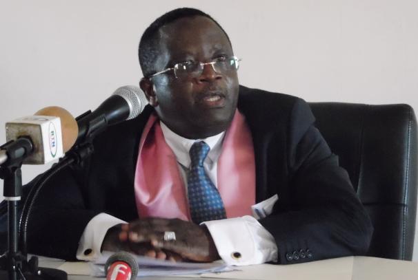 Alfred Nguia Banda annonçant la création de son parti