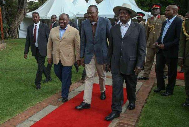 Ali Bongo Ondimba, Uhuru Kenyatta et Yoweri Museveni au Kenya