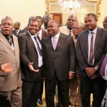 Ali Bongo Ondimba et les journalistes le 3 mai 2016